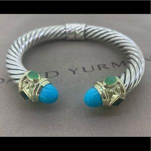 David Yurman Renaissance Bracelet 14k & Turquoise